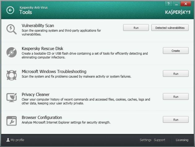 Kaspersky Anti-Virus 2014 bonus alati