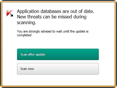 Kaspersky Anti-Virus 2014 skeniranje posle update-a