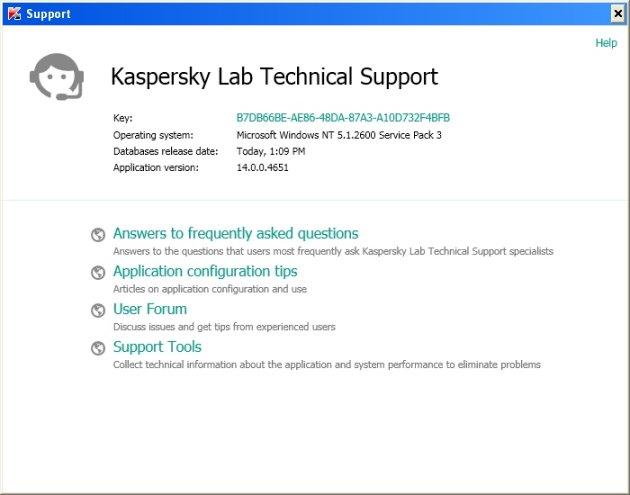 Kaspersky Anti-Virus 2014 ugrađena podrška