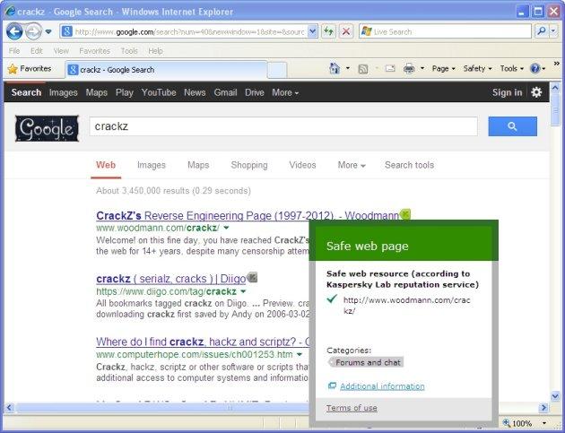 Kaspersky Anti-Virus 2014 URL savetnik