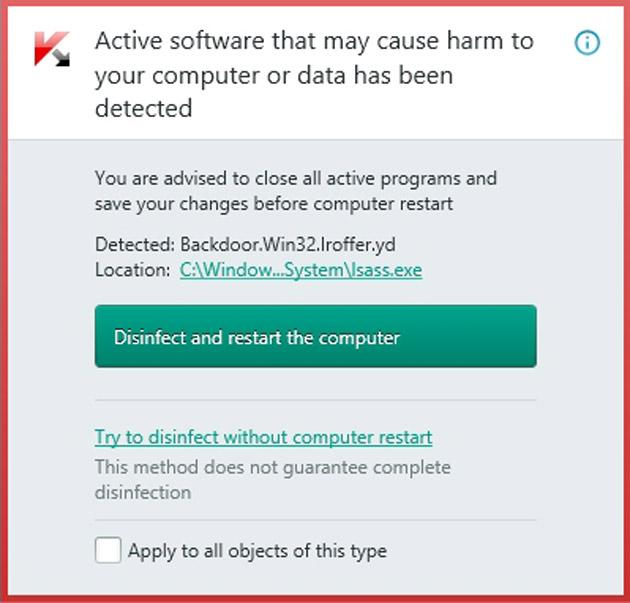 Kaspersky AntiVirus 2015 skeniranje posle update-a