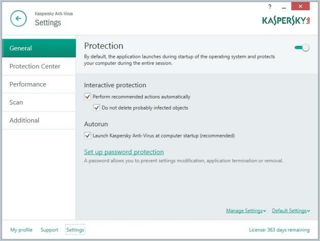 Kaspersky AntiVirus 2015 opcije skeniranja