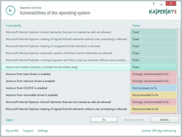 Kaspersky AntiVirus 2015 opšta podešavanja