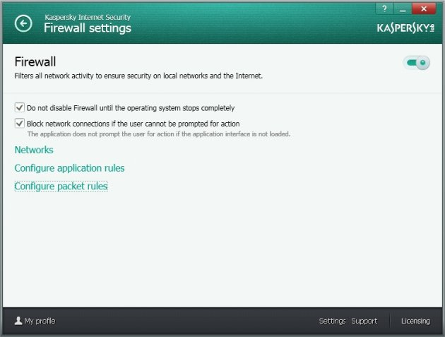 Kaspersky Internet Security 2014 Firewall podešavanje