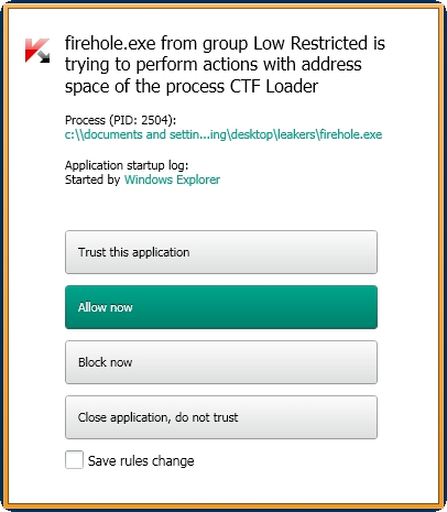Kaspersky Internet Security 2014 leak test blokiran