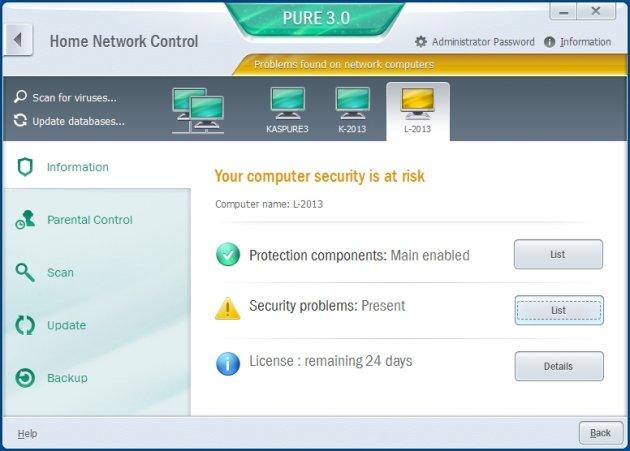 Kaspersky Pure 3.0 kontrola lokalne mreže