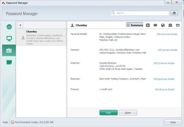 Kaspersky Pure 3.0 podaci za identifikaciju