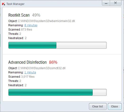 Kaspersky Pure 3.0 simultano skeniranje