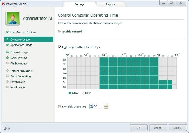 Kaspersky Pure 3.0 vremensko ograničenje