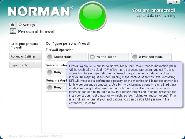 Norman Security Suite 10 Pro pomoć