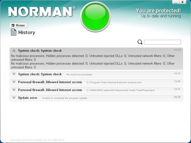 Norman Security Suite 10 Pro provera sistema