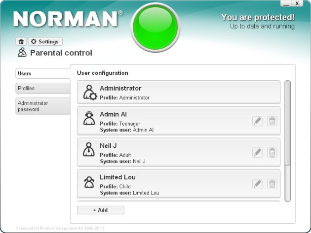 Norman Security Suite 10 Pro roditeljska kontrola