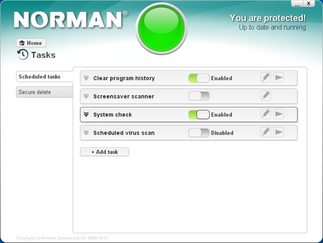 Norman Security Suite 10 Pro zadaci