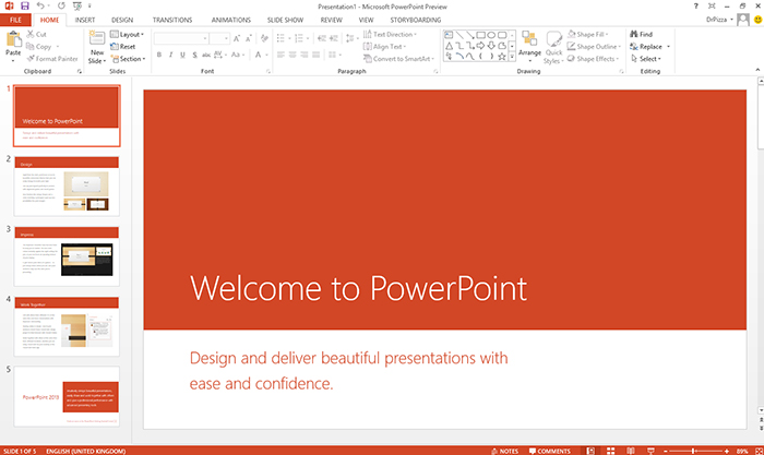 Microsoft Power Point 2013