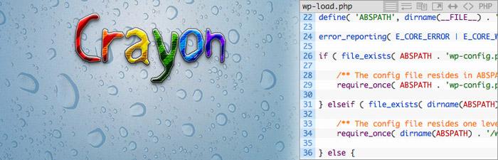 WordPress Plugin Crayon marker