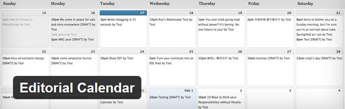 WordPress plugin editorial calendar
