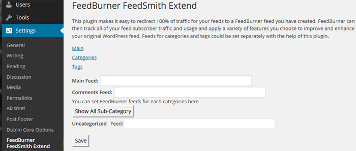 WordPress Plugin FeedBurner