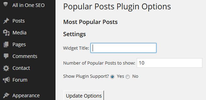 WordPress Plugin popularni postovi