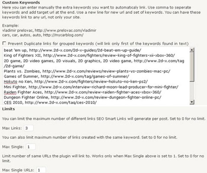 WordPress Plugin SEO pametni linkovi