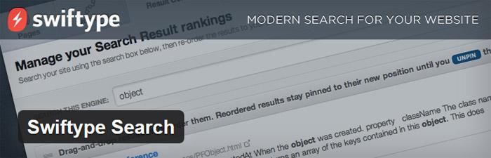 WordPress Plugin Swiftype search
