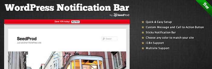 WordPress plugin bar za obavestenja