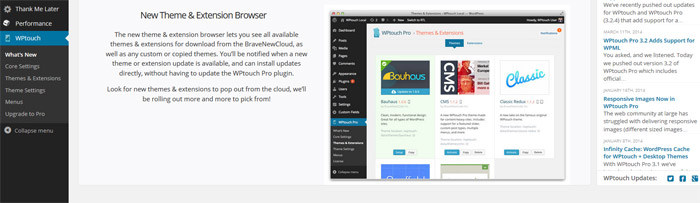 WordPress Plugin WPTouch