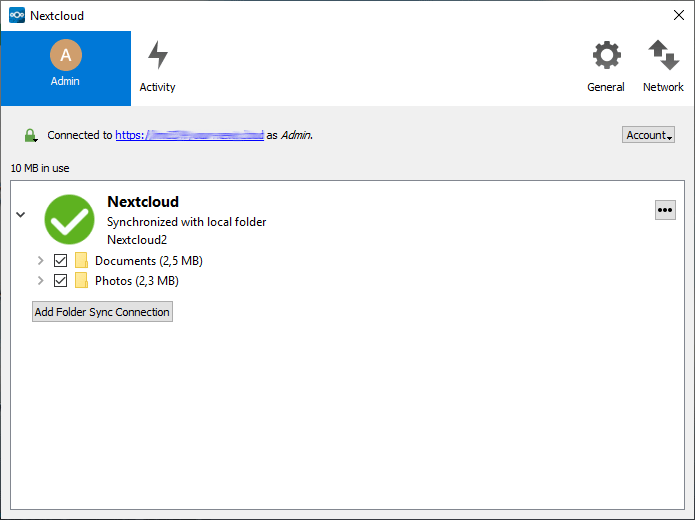 Nextcloud Microsoft Windows klijent